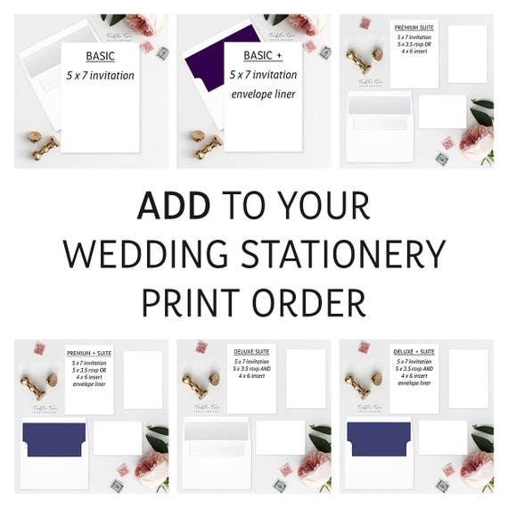 Add Extra Invitations or Invitation Suites to Print Order