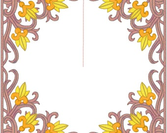 10 8X8 squares mostly used for quilt blocks or pillows machine embroidery designs. Downloadable formats pes, jef,vp3,dst,exp