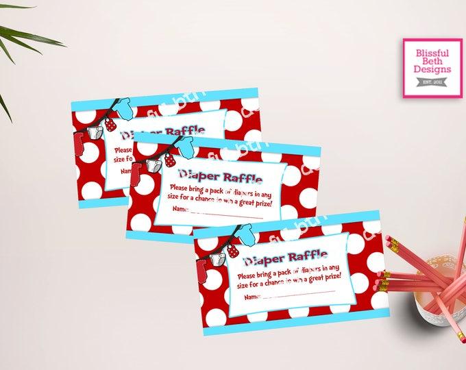 SEUSS DIAPER RAFFLE Dr. Seuss Diaper Raffle Ticket, Diaper Raffle Ticket, Shower Diaper Raffle, Dr. Seuss