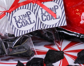 1 LUMP OF COAL Soap Favor (with Tag & Ribbon) - Christmas Soap, Naughty Favor, Stocking Stuffer, Christmas Gift, Coal Soaps