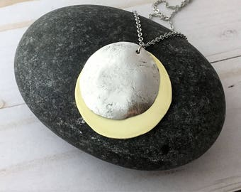 Solar Eclipse Necklace, Sun and Moon Necklace, Solar Necklace, Eclipse 2017 Necklace, Sun Necklace, Moon Necklace, Solar Eclipse Jewelry