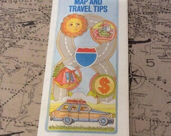 Exxon Travel Club 1982 USA road map and travel guide