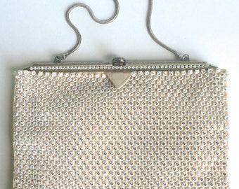 Rhinestone purse White Purse Clutch