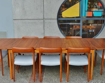 Extra LONG Mid Century Modern Teak SWEDISH Dining Table