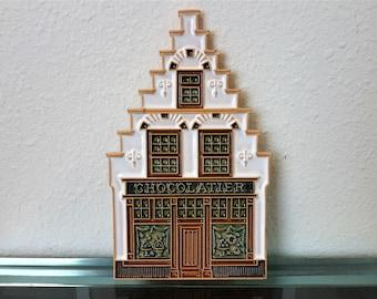 Belgium Chocolatier Wall Plaque Pottery Made in Belgium Vangeebergent
