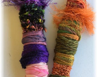 Fiber Wands...Assortment of Yarn, Fibers and Ribbon for Your Creative Inspirations!