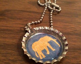 Elephant Bottle Cap Necklace