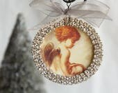 Christmas ornament angel ornament tree ornament handmade ornament holiday ornament christmas decoration  from My Sweet Maison