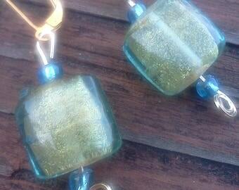 Aqua Glass Gold Foil Drops