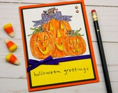 Halloween Cards - Funny Halloween - Jack O Lantern - Trick or Treating - Friendship Cards - Best Friend Card - Greetings Cards