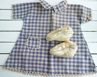 Antique Baby Shoes, and the vintage dress