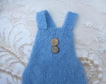 Blue Mohair Overalls Romper, boys romper, bebe, foto, fotografia, knit romper, by Lil Miss Sweet Pea