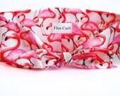 Flamingo Headband - Pink and White Bird Animal Headband - Hair wrap - Bandana - Women Headbands