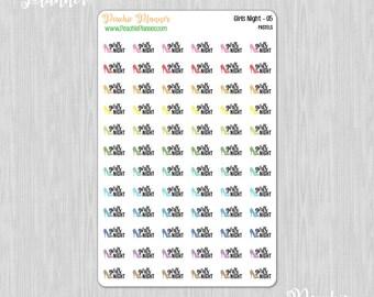 Girls Night, Rainbow Pastels - 72 Functional Planner Stickers    05