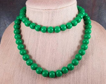necklace round green aventurine gemstone bead