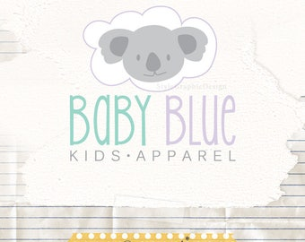 Child apparel logo - Cute logo design - Colorful logo - Logo design - Logo for a kids shop - Baby boutique logo - Sweet animal logo