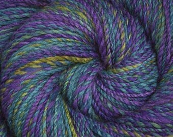 Handspun yarn - Merino wool yarn, DK weight - 265 yards - 'Twas Brillig