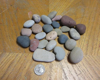 24 Large Natural Beach Stones Painting on Rocks Stone Supplies Kid Craft Supplies