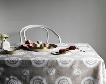 Natural Embellish linen tablecloth
