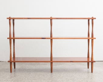 Mid Century Fir Dowel Shelf / Bookcase