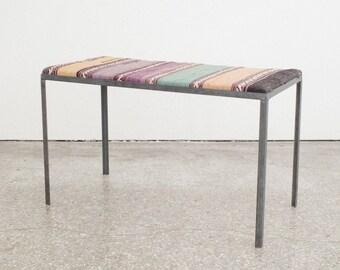 Minimalist Iron & Kilim Bench