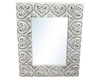 Heart Tin Mirror 24 in. x 30 in.