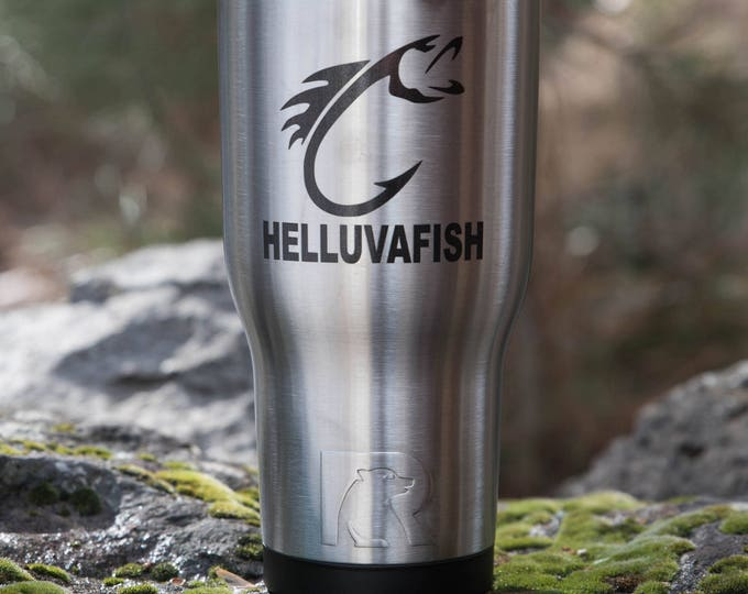 Personalized Tumbler Gift for HIM// RTIC Custom Tumbler   // Gift for Fisher Man// Gift for Dad // Fishing Tumbler