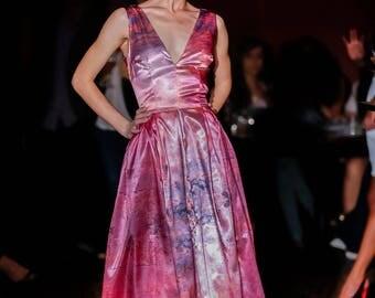 Low V neck Dress