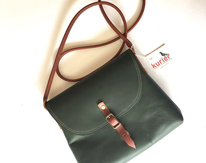 Forest Green KARINA crossbody leather bag