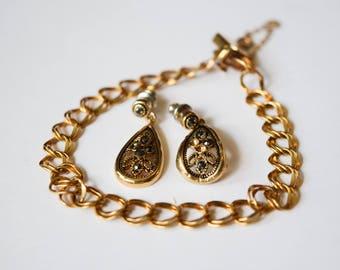 Vintage 1/20 12K GF Bracelet, Double Link Gold Chain