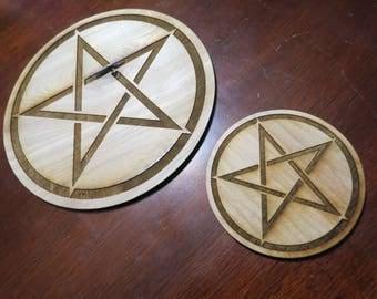 Pentacle Altar Tile-Pentagram Tile ANY SIZE 1-11 inces