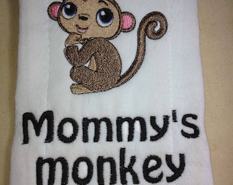 Personalized, burp cloth, personalized baby, baby shower gift, embroidered towel, cloth diaper, baby gift, new parents,