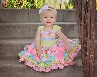 Larkin's Baby Fancy Party Dress PDF Pattern Sizes Newborn to 18/24 mos.