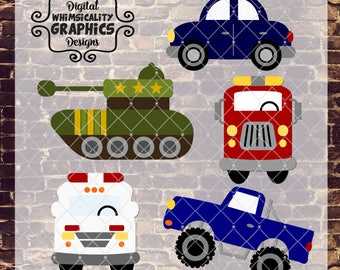 Whimsical Hero Vehicles Bundle with svg, dxf, png, eps Commercial & Personal Use