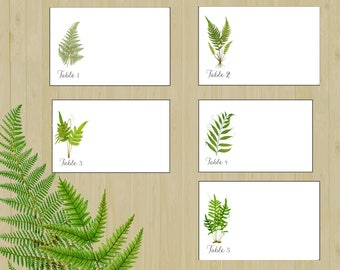 FERN place cards, Fern Escort Cards, Wedding Place Cards, Wedding Escort Cards, Woodland Place Cards, Woodland Escort Cards, Garden,