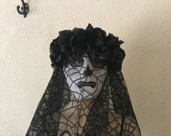 Mask, Halloween Mask,The Crying Lady Mask,La Llorona,Skull Mask,Spanish Crying Lady Mask, Day of the Dead Mask, Halloween Skull Mask