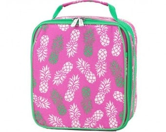 Pineapple Insulated Lunch Box * Monogrammed FREE * / Girls Lunch Box / Personalized Lunch Box / Back to School Gear / FREE Personalization