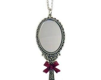 mirror necklace. mirror necklace