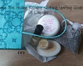 CYBER MONDAY SALES Lavender Gift Set - Lavender Soap - Lavender Fragrance - Lavender Salve - Lavender Herbals - Elusive Wolf