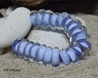 Periwinkle, Artisan Lampwork Glass Beads
