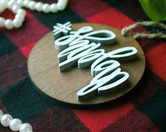SHIPLAP Christmas Ornament / Rustic Ornaments / Farmhouse Christmas Ornaments