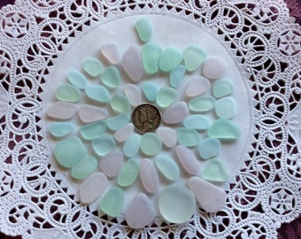 FREE Shipping Small Medium Large pale  Pastel genuine sea glass PPB-J19-50-B