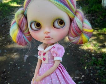 Custom Blythe Dolls For Sale by Anniedollz No.60 Complete OOAK Custom Blythe Reroot Doll