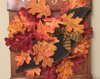 Happy Fall Ya'll sign Housewarming Gift Fall Decor Autumn Country Sign Cottage Chic Home Sign Prim Sign Cabin Sign Handmade Ready To Ship