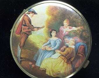 1960's Mid Century Vintage Double Mirror Victorian Theme Purse Mirror Compact Gift For Her on Etsy