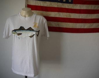 Vintage Weekapaug Bait & Tackle Tshirt / Vintage Rhode Island tee / Vintage fishing tee / Rainbow trout Tshirt / Phish tee / Bass tshirt