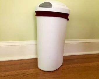 Diaper Pail Liner -Maroon Reusable Garbage Pail Liner - Laundry Bag -  Cloth Diaper Pail
