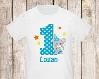 ON SALE 1st Birthday Mouse Personalized Birthday Shirt - ANY Age