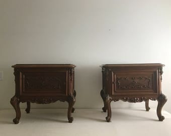 Pair of French Walnut Side Tables