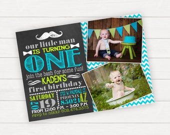 First Birthday Invitation Boy Birthday Baby Boy First Birthday 1st Birthday Mustache Birthday Mustache Bash Birthday Party Birthday Invite